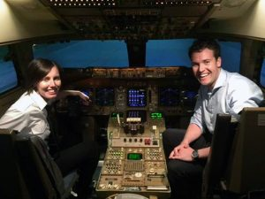 Helen Wilson and Michael Windsor during their Airline Placement Programme